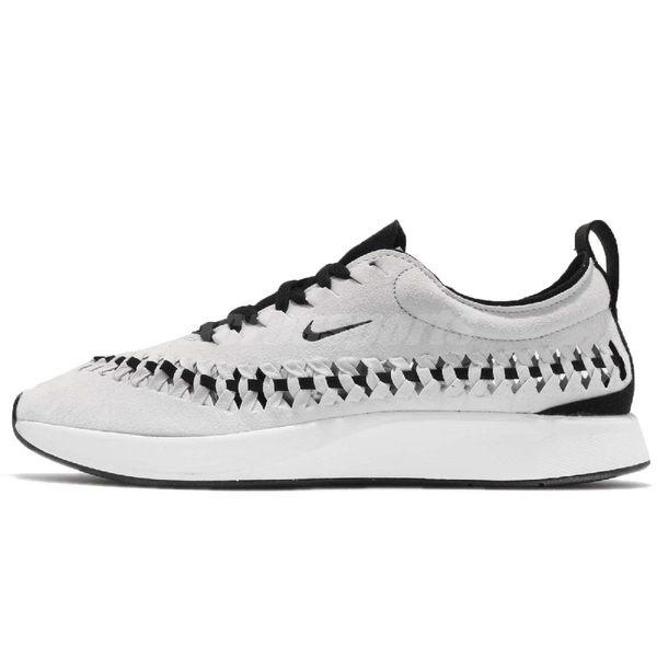 Nike 慢跑鞋 Dualtone Racer Woven 灰 白 側邊編織 運動鞋 男鞋【PUMP306】 AO0678-001