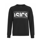 Asics [2031A871-001] 男 長袖 上衣 T恤 內刷毛 保暖 舒適 棉質 運動 休閒 穿搭 亞瑟士 黑灰