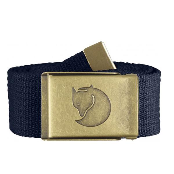 【Fjallraven北極狐】 Canvas Brass Belt銅釦帆布皮帶 4CM(FR77297)