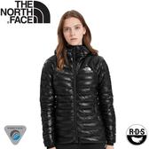 【The North Face 女 Summit Perex 連帽羽絨外套《黑》】3SPS/羽絨衣/保暖外套