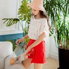 《AB7622-》高含棉刺繡雨滴褶袖上衣...