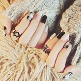 可穿戴指甲貼紙防水持久美甲貼紙全貼韓國3d指甲貼片飾品美甲成品
