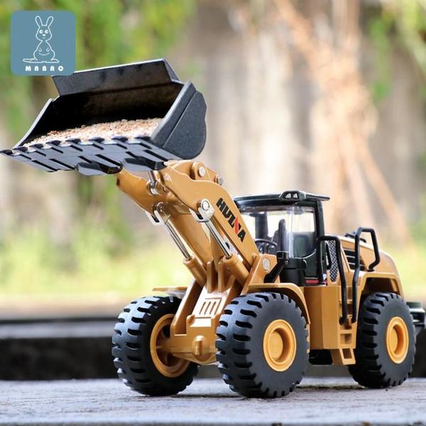 鏟車模型合金工程車仿真推土裝載機翻斗運輸車兒童壓路機男孩玩具 「夢幻小鎮」