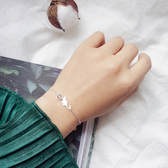 月光石貓咪手鍊s925純銀可愛喵星人玩球手鍊手環個性禮物【免運】