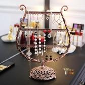 耳環架 創意耳環架飾品展示架首飾盒掛耳釘耳飾耳墜項鍊家用收納架子
