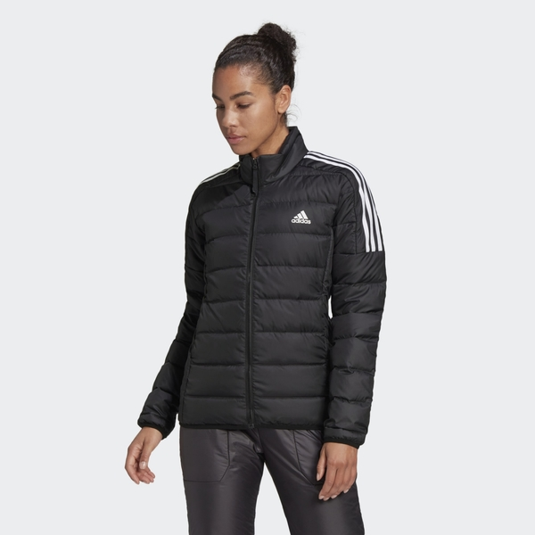 Adidas Essentials Down 女款黑色羽絨長袖外套-NO.GH4593