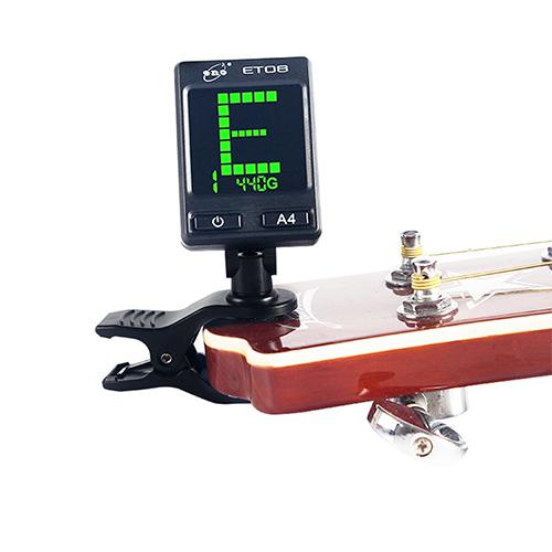 【敦煌樂器】ENO ET-08 彩色螢幕夾式調音器