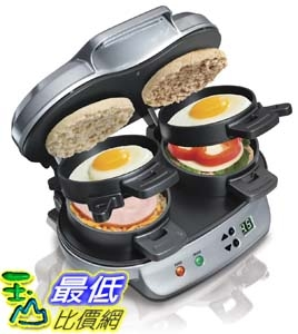 [104美國直購] Hamilton Beach 25490A 雙份漢堡三明治機 Dual Breakfast Sandwich Maker