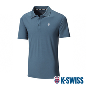 K-SWISS PF Logo Polo排汗POLO衫-男-綠