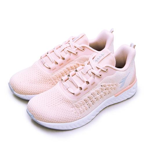 LIKA夢 DIADORA 迪亞多那 輕量針織寬楦慢跑鞋 慢遊泡泡系列 蜜桃粉 33611 女