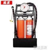 打氣筒 風王車載充氣泵 汽車用雙缸腳踏打氣泵 家用高壓便攜式腳踩打氣筒 JD 下標免運
