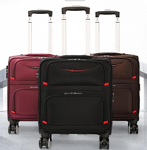 16寸登機箱超輕便學生拉桿箱萬向輪旅行密碼箱行李箱男布箱軟箱YYP 琉璃美衣
