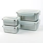 Quasi 司扣爾不鏽鋼保鮮盒含蓋8件組 單個容量:500/1800 毫升