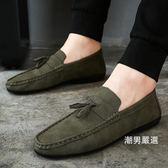 全館一件88折-豆豆鞋男2018新品夏季韓版潮流百搭懶人鞋休閒鞋39-444色