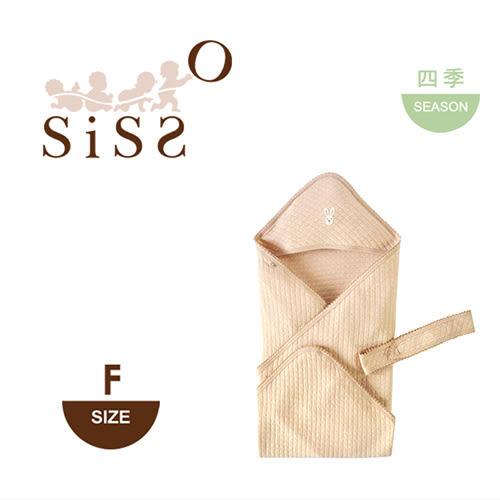【SISSO有機棉】陽光空氣棉文小兔嬰兒包巾