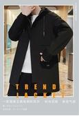 男士風衣中長款韓版潮流秋冬季2019新款加絨厚上衣服大衣秋裝外套 完美計畫