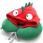 PLUMO萌可愛連帽U形枕卡通護頸枕午睡旅行枕汽車頭枕 繽紛葡萄牙☌zakka