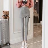 假兩件褲子 秋裝2021款女加肥加大碼胖mm200斤顯瘦外穿假兩件打底褲裙褲高腰 童趣屋 交換禮物