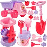 全館85折兒童節禮物粉色沙灘挖沙子 玩具套裝 女孩寶寶小公主決明子沙漏鏟子工具