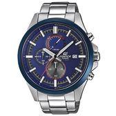 【僾瑪精品】CASIO 卡西歐 EDIFICE 汛藍時尚男士不鏽鋼賽車錶/45mm/EFV-520RR-2A
