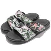 Nike 拖鞋 Wmns Benassi Duo Ultra Slide 黑 彩色 特殊花紋 雙帶 女鞋 涼鞋 GD【PUMP306】 819717-003