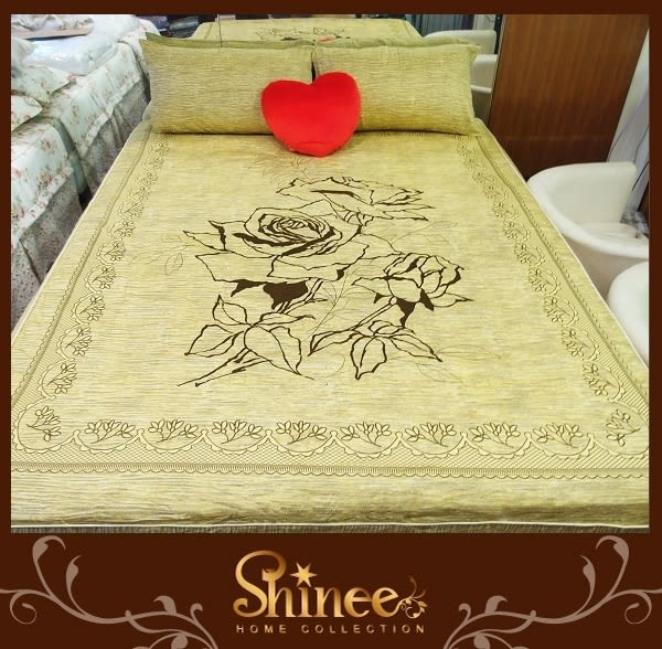原價1980元↘SHINEE 台灣製 100%精梳棉(玫瑰花園)標準雙人床包三件組(床包x1+枕套x2)