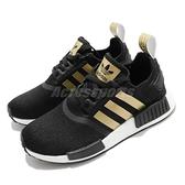 adidas 休閒鞋 NMD_R1 W 黑 金 女鞋 Boost 運動鞋 襪套式 【ACS】 FX8833