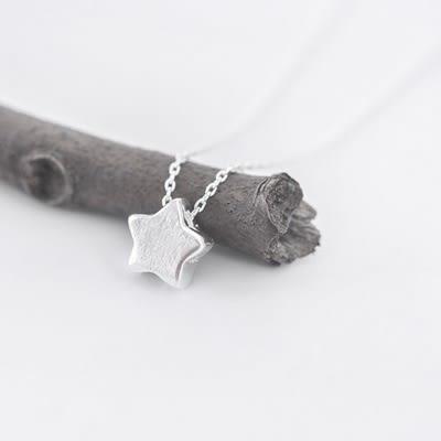 項鍊 925純銀吊墜-星星可愛生日聖誕節禮物女飾品73gj54【時尚巴黎】