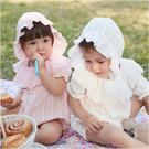 Augelute Baby童衣 荷葉領女寶寶短袖包屁衣 夏季連身衣 爬服 附帽子 80085