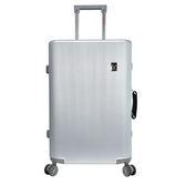RAIN DEER 米娜莎28吋鋁框行李箱-銀【愛買】