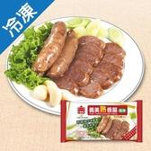 義美蒜味熟香腸200g【愛買冷凍】