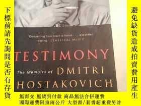 二手書博民逛書店TESTIMONY罕見The Memoirs of DMITRI SHOSTAKOVICHY247797