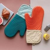 隔熱手套 硅膠隔熱手套2只裝 耐高溫防燙防熱家用廚房微波爐烘焙烤箱專用 風馳