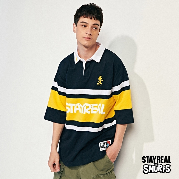 STAYREAL x 藍色小精靈 SMURFS寬版POLO衫