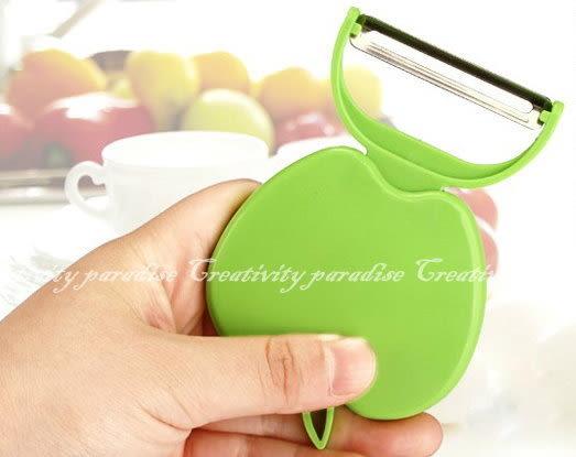 【蘋果造型削皮刀】摺疊式水果削皮器 水果刀
