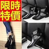 真皮短靴-獨特流行高雅低跟女靴子1色62d63[巴黎精品]