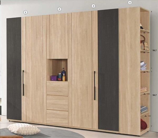 【新北大】✪ B003-4 (3)米拉斯2.8尺雙吊衣櫥(單桶)-18購