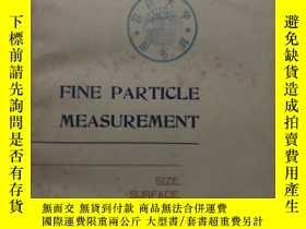 二手書博民逛書店FINE罕見PARTICLE MEASUREMENT( :H41