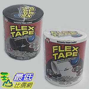 """[美國原裝進口非大陸仿冒品] Flex 強力防水膠帶3入 4""""x5' (10.2 x 152.5公分) 黑白兩色 Flex Tape"""