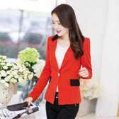 新款一粒扣西裝外套女 秋裝短版修身 BQ943『miss洛羽』