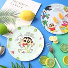 正版 蠟筆小新 美耐皿圓盤 點心盤 水果盤 圓盤 盤子 造型圓盤 小新圓盤 小新盤子 餐具