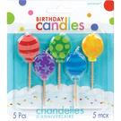 生日蠟燭5入-氣球