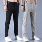 夏季冰絲薄款男士休閒褲2021新款韓版潮流速干商務直筒寬鬆長褲子 設計師