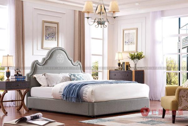 [紅蘋果傢俱] SA113 北歐英倫風 床組 六尺床 床架 床台 雙人床 櫃子 多功能櫃 床頭櫃 工廠直營