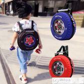 後背包 幼兒園書包輪胎小背包3-6歲3D立體個性小中大班斜跨兒童寶寶書包 居優佳品