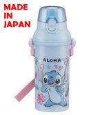 BabyPark 迪士尼星際寶貝 史迪奇 STITCH 日本製單手彈蓋直飲水壺480ml 飲料壺