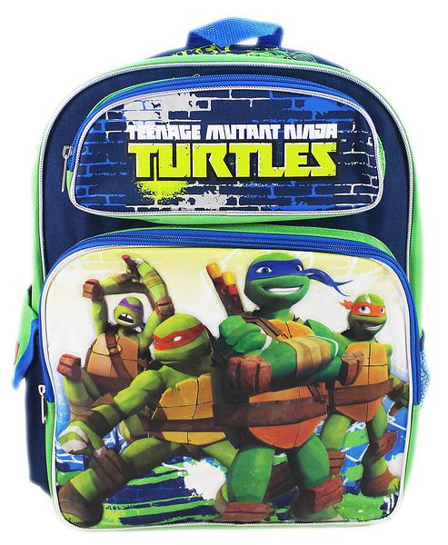 【卡漫城】 忍者龜 後背包 高 40cm 藍 ㊣版 歐美版 Turtles Ninja 書包 兒童 外出包 旅行 造型