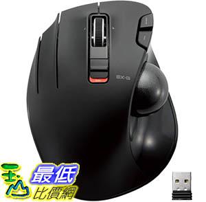 [9美國直購] 左手滑鼠 ELECOM M-XT4DRBK Wireless Trackball mouse for Left-Handed L size 2.4GHz