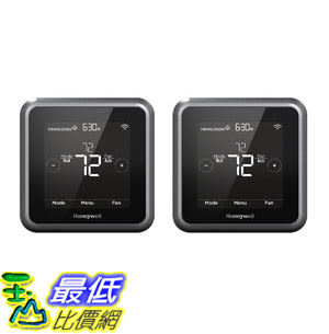 [107美國直購] 溫控器 Honeywell RCHT8610WF2006 Lyric T5 Wi-Fi Smart 7 Day Programmable Touchscreen (Pack of 2)
