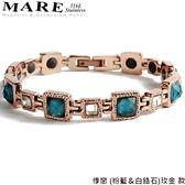【MARE-316L白鋼】系列:悸戀 (粉藍&白鋯石)玫金 款